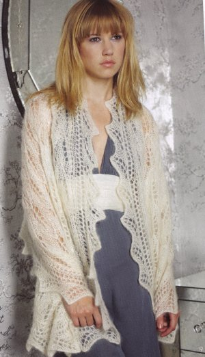 Debbie Bliss Angel Lace Stole Kit - Women's Cardigans