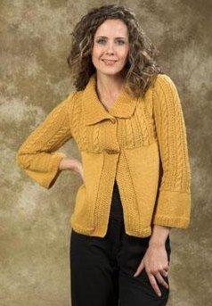 Plymouth Galway Worsted Jacket Kit - Women's Cardigans