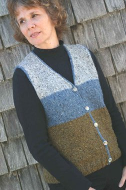 Knitting at Knoon Patterns - Twipple Tweed Vest Pattern