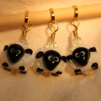 Victoria S Beaded Stitch Markers - Ewe Cuties