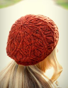 Never Not Knitting Patterns - Autumn Vines Beret
