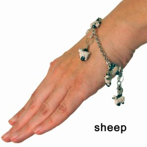 Skacel Stitch Marker Bracelet - Sheep