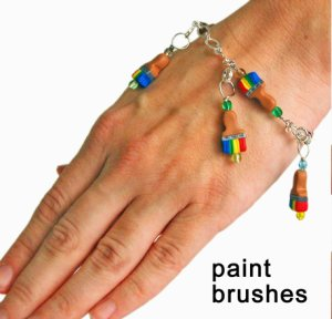 Skacel Stitch Marker Bracelet - Paintbrushes