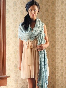 Blue Sky Fibers Scarf, Shawl, and Wrap Patterns - Kaw Valley Wrap Pattern