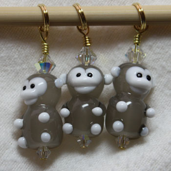 Victoria S Beaded Stitch Markers - Monkey Fun
