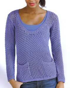Tahki Stacy Charles Cotton Classic Indigo Girl Tunic Kit - Women's Pullovers