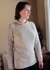 Knitting Pure and Simple Women's Sweater Patterns - 9724A New Neckdown Pullover Pattern