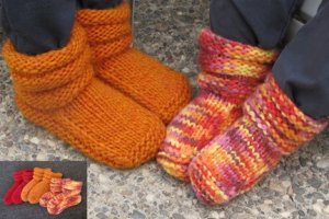 Knitting Pure and Simple Baby & Children Patterns - 0113 - Children's Mukluk Slippers Pattern