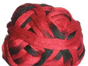 Knitting Fever Flounce Yarn - 05 Red, Black (Discontinued)