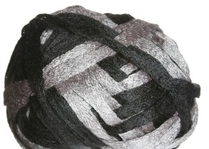 Knitting Fever Flounce Yarn - 08 Black, Grey (Discontinued)