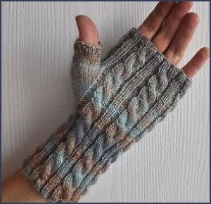 Crystal Palace Sausalito Fingerless Gloves Kit - Hats and Gloves