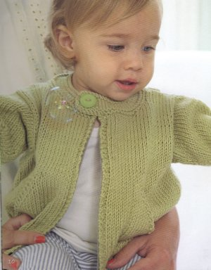 Debbie Bliss Eco Aran Zipped Jacket Kit - Baby and Kids Cardigans