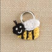 Lantern Moon Stitch Markers - Bee (Discontinued)