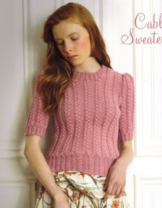 Debbie Bliss Bella Cable Sweater Kit - Women's Pullovers