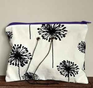 Top Shelf Totes Yarn Pop - Double - Black & White Dandelion