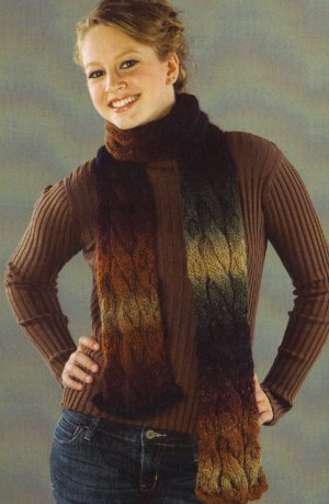 Universal Yarns Classic Shades Double Crosser Scarf Kit - Scarf and Shawls