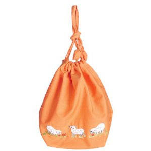 Lantern Moon Meadow Pouch Project Bags - Orange