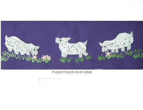 Lantern Moon Meadow Pouch Project Bags - Purple