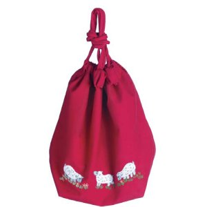 Lantern Moon Meadow Pouch Project Bags - Fuchsia