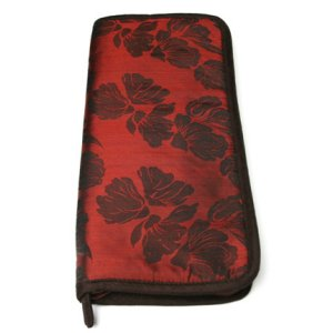 Lantern Moon Combo Compact Zip Cases - Red, Chocolate