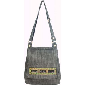 Lantern Moon Sapa Crossbody Bag - Black Denim