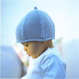 Debbie Bliss Baby Cashmerino Cable and Moss Stitch Hat Kit - Baby and Kids Accessories