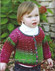 Universal Classic Shades Baby Bud Lacy Cardigan Kit - Baby and Kids Cardigans