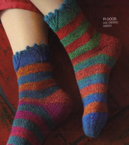 Regia Hand-Dye Effect Striped Socks Kit - Socks