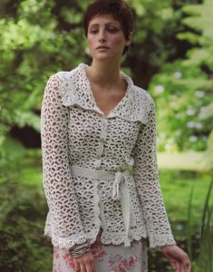 Rowan Panama Apricot Cardigan Kit - Crochet for Adults