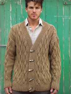 Rowan All Seasons Cotton Reef Cardigan Kit - Mens Cardigans