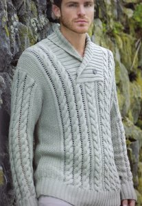 Rowan Handknit Cotton Swash Pullover Kit - Mens Sweaters