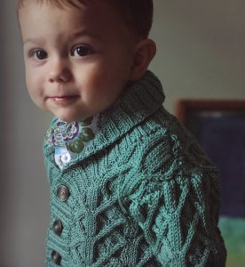 Rowan Cotton Glace Fynn Cardigan Kit - Baby and Kids Cardigans