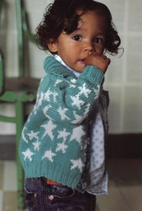 Rowan Handknit Cotton Zack  Kit - Baby and Kids Cardigans