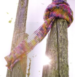 Koigu KPPPM Knit Yarn-Over Scarf Kit - Scarf and Shawls