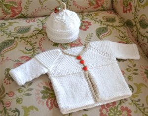 Spud & Chloe Sweater Hello Baby Cardigan and Hat Set Kit - Baby and Kids Cardigans