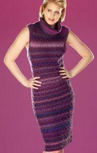Universal Yarns Classic Shades Cable Check Dress Kit - Dresses and Skirts