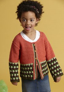 Blue Sky Alpaca Skinny Cotton Zoe Cardigan Kit - Crochet for Kids