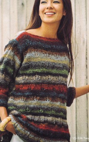 Noro Taiyo Ladies Open Lace Sweater Kit - Women's Pullovers