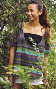 Noro Kureyon Sock Ladies Sweater Kit - Women's Pullovers