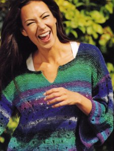 Noro Silk Garden Sock Ladies Sweater Kit - Women's Pullovers