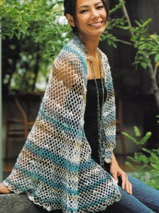Noro Taiyo Sock Ladies Wrap Kit - Crochet for Adults