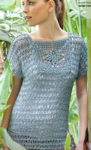 Lana Grossa Festa Top Kit - Crochet for Adults