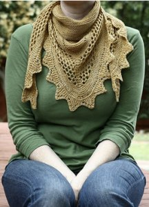 The Shetland Trader Patterns - Aestlight Shawl Pattern