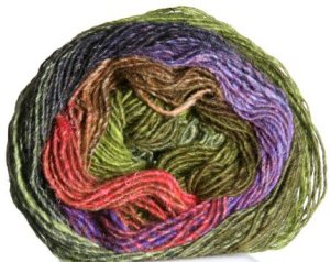 Noro Silk Garden Lite Yarn - 2012 Olive, Purples, Salmon (Discontinued)