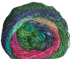 Noro Silk Garden Lite Yarn - 2036 Fuschia, Blues, Greens (Discontinued)