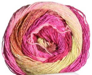 Noro Silk Garden Lite Yarn - 2038 Burgundy, Gold, Fuschia, Yellow (Discontinued)