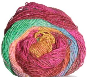 Noro Silk Garden Lite Yarn - 2040 Gold, Green, Fuschia (Discontinued)