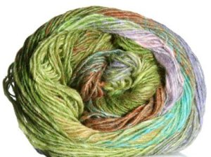 Noro Silk Garden Lite Yarn - 2050 Tan, Periwinkle, Green (Discontinued)
