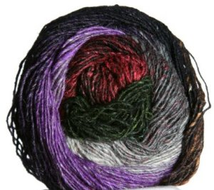 Noro Silk Garden Lite Yarn - 2051 Black, Green, Brown, Brick (Discontinued)