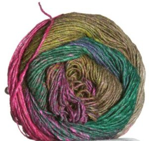 Noro Silk Garden Lite Yarn - 2056 Green, Purple, Fuschia, Cocoa (Discontinued)